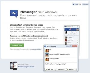 Facebook Messenger disponible Windows