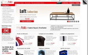 conforama et le e commer ant de d coration en ligne myfab s 39 associent. Black Bedroom Furniture Sets. Home Design Ideas