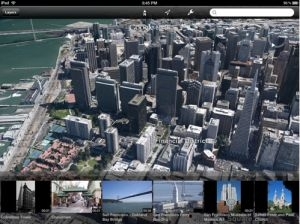 Google Earth cartes 3D guides touristiques iOS