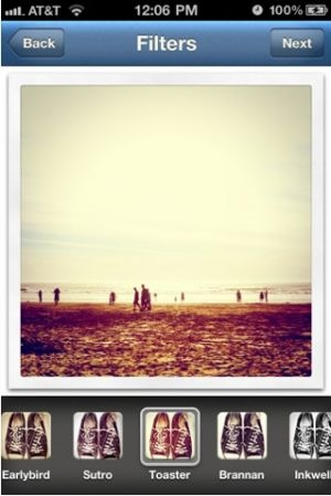 'Instagram' sur iPhone